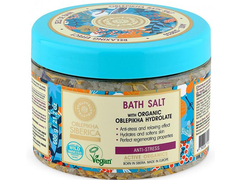Natura Siberica Anti-stresová koupelová sůl Oblepikha (Bath Salt) 600 g