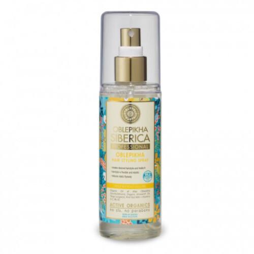 Natura Siberica Rakytníkový tužiaci sprej na vlasy Oblepikha ( Hair Styling Spray) 125 ml