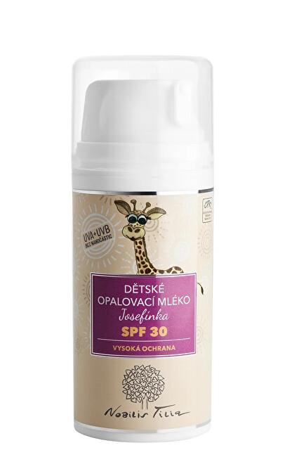 Nobilis Tilia Dětské opalovací mléko Josefínka SPF 30100 ml