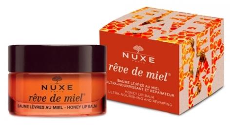 Nuxe Balzám na rty Reve de Miel limitovaná edice Bee Happy (Honey Lip Balm) 15 g