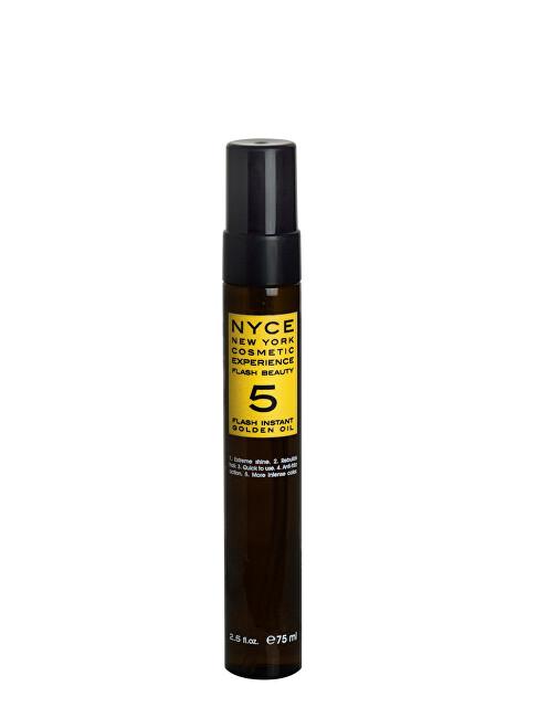 NYCE Regeneračný olej na vlasy (Flash Instant Gold en Oil) 75 ml