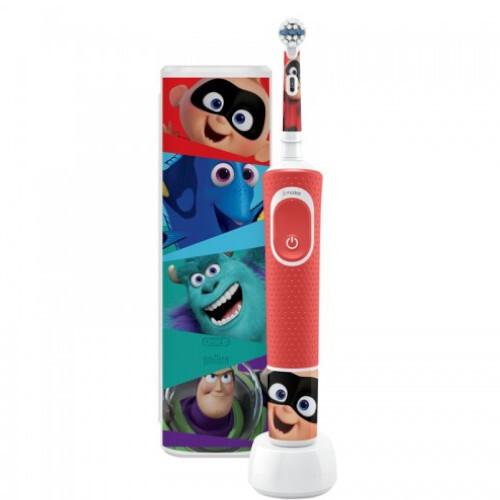 Oral B Elektrická zubná kefka pre deti Vitality D100 Kids Pixar s cestovným puzdrom