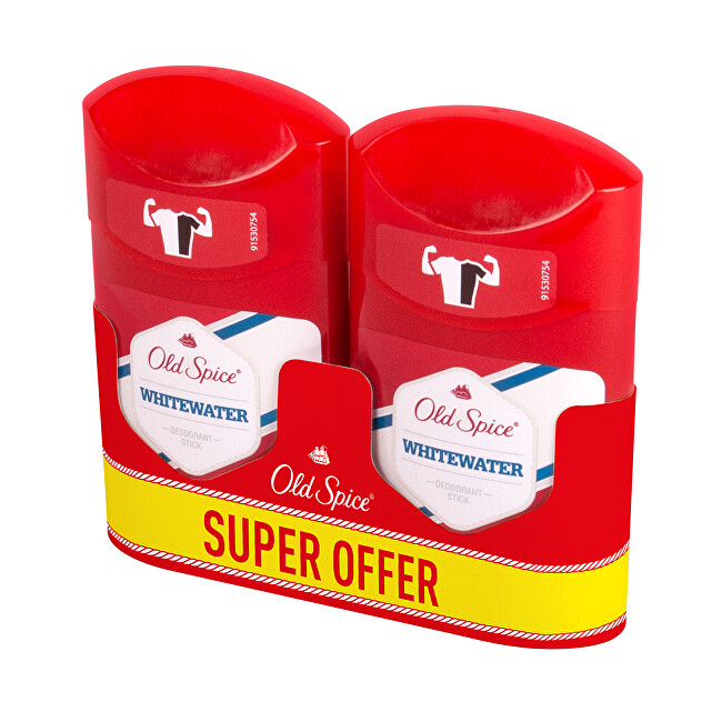 Old Spice Tuhý deodorant Whitewater Duo 2 x 50 ml