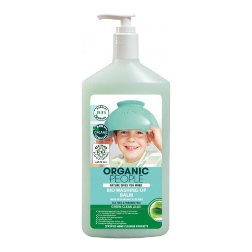 Organic People Umývacie balzam na riad Aloe Vera Bio (Washing-Up Balm) 500 ml