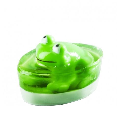 Organique Tuhé glycerínové mydlo Frog (Glycerine Soap) 80 g