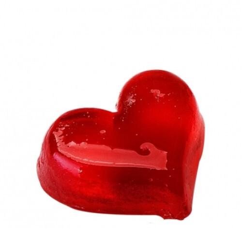 Organique Tuhé glycerínové mydlo Heart Middle (Glycerine Soap) 50 g