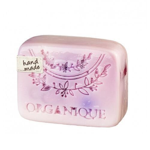 Organique Tuhé glycerínové mydlo Malina (Glycerine Soap) 100 g