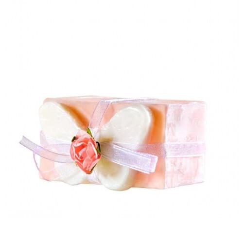 Organique Tuhé glycerínové mydlo Rose Butter fly (Glycerine Soap) 120 g