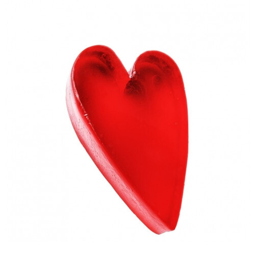 Organique Tuhé glycerínové mydlo v tvare srdca Heart (Glycerine Soap) 60 g