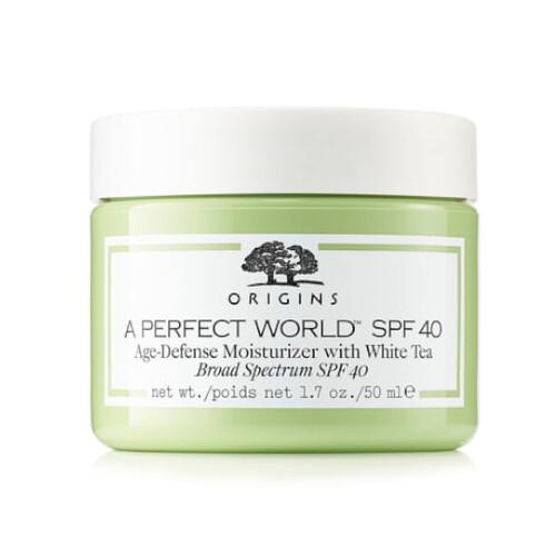 Origins Hydratační pleťový krém s bílým čajem A Perfect World™ SPF 40 (Age-Defense Moisturizer With White Tea) 50 ml