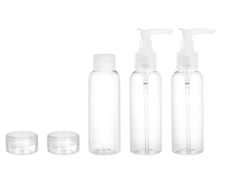 Ostatní Cestovná sada fľaštičiek na kozmetiku (Travel Containers Set) 5 ks