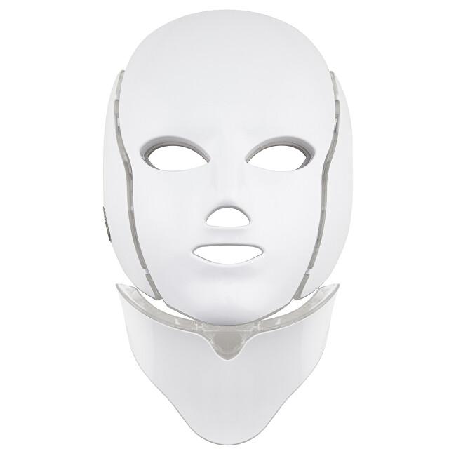 Palsar 7 Ošetřující LED maska na obličej a krk bílá (LED Mask + Neck 7 Colors White)