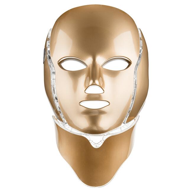 Palsar 7 Ošetřující LED maska na obličej a krk zlatá (LED Mask + Neck 7 Colors Gold)