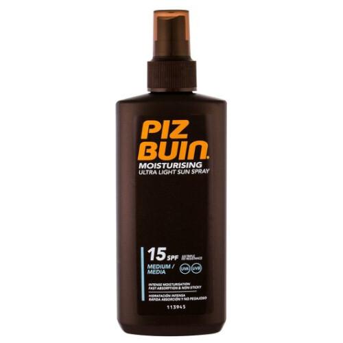 Piz Buin Ľahký sprej na opaľovanie SPF 15 ( Ultra Light Sun Spray) 200 ml