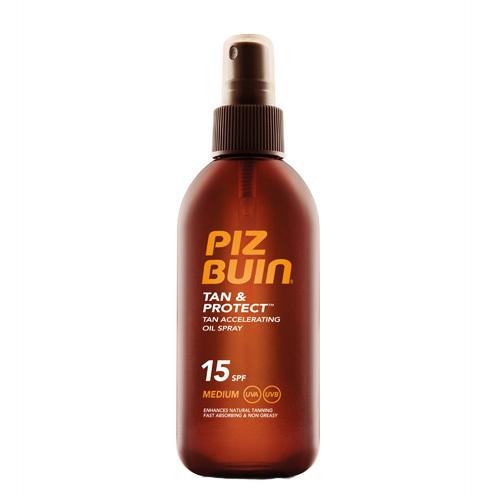 Piz Buin Olej urychlující proces opalování ve spreji SPF 15 Tan & Protect (Accelerating Oil Spray) 150 ml