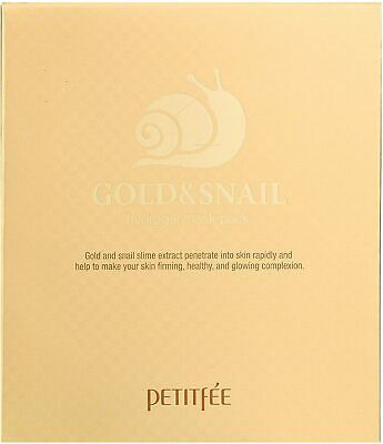 Petitfée Hydrogelová pleťová maska se zlatem a hlemýždím extraktem Gold & Snail (Hydrogel Mask Pack) 5 ks
