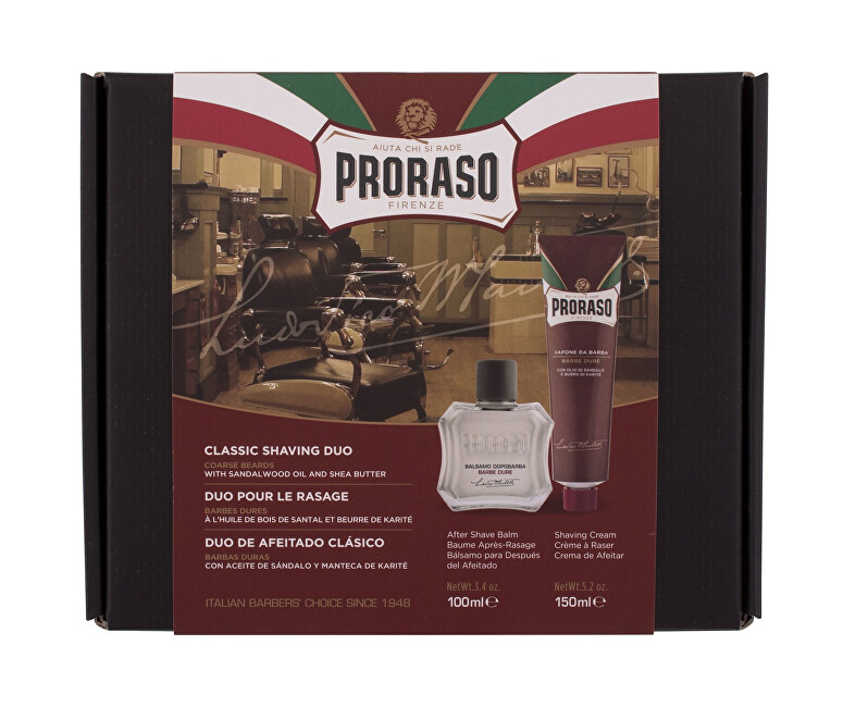 Proraso Darčeková sada vyživujúcich prípravkov na holenie Sandalwood Oil & Shea Butter