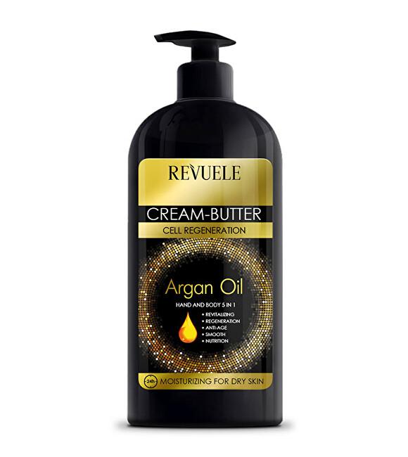 Revuele Krémové máslo na ruce a tělo s arganovým olejem 5 v 1 Argan Oil (Cream-Butter Hand and Body 5 in 1) 400 ml