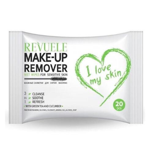 Revuele Odličovací ubrousky na oči a pleť pro citlivou pokožku I Love My Skin (Wet Wipes For Sensitive Skin) 20 ks