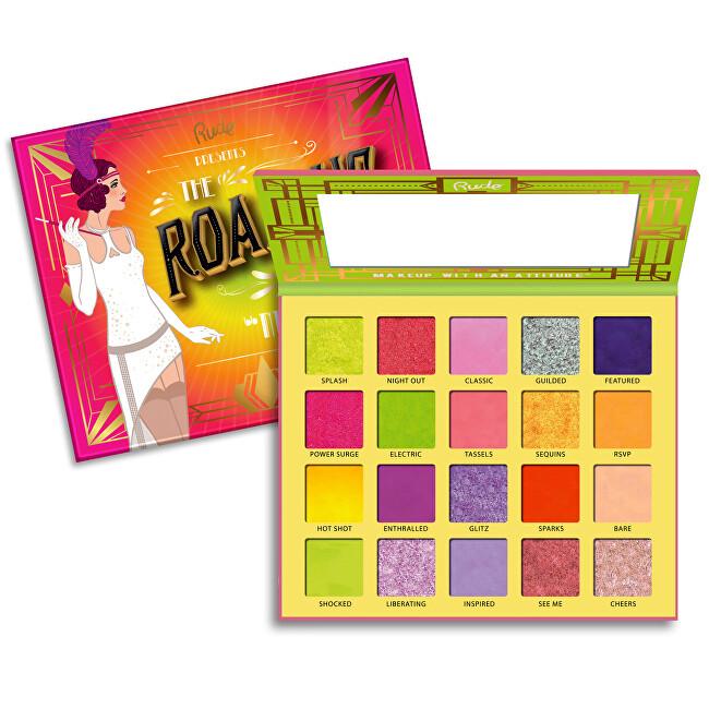 RUDE® Cosmetics Paletka 20 očních stínů The Roaring 20`s Neons (Eyeshadow Palette) 30 g