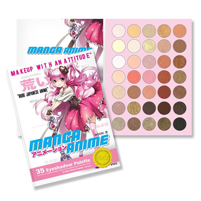 RUDE® Cosmetics Paletka 35 očních stínů Manga Anime Book 2 (Eyeshadow Palette) 52,5 g