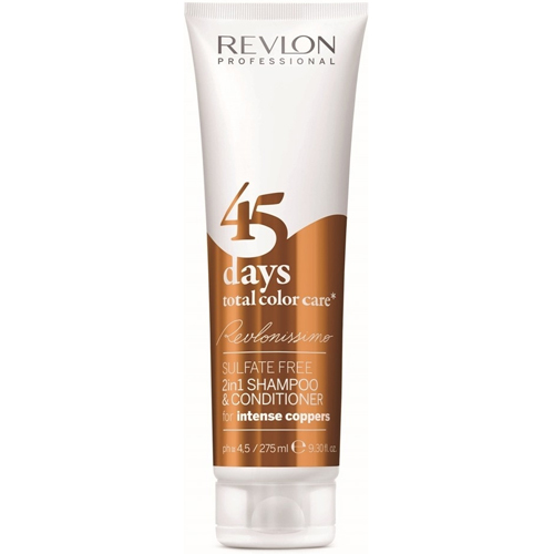 Fotografie Revlon Professional Revlonissimo Color Care šampon a kondicionér 2 v 1 pro měděné odstíny vlasů bez sulfátů 275 ml