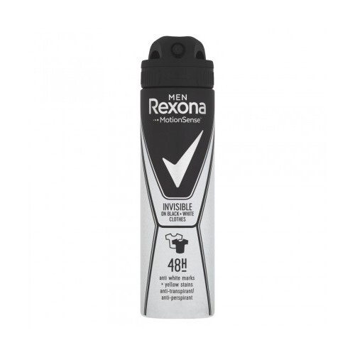 Rexona Antiperspirant v spreji Men Motionsense Invisible Black + White 150 ml