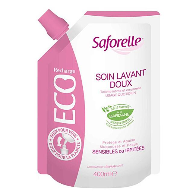 Saforelle Jemný mycí gel (náhradní náplň) Eco pack 400 ml