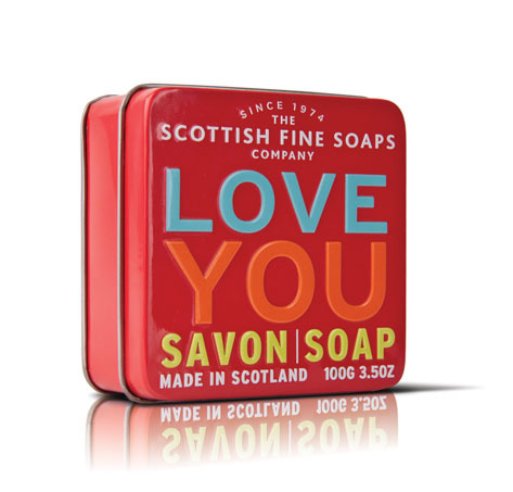 Scottish Fine Soaps Mýdlo v plechu I love you 100 g
