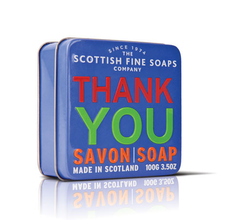 Scottish Fine Soaps Mýdlo v plechu Thank you 100 g