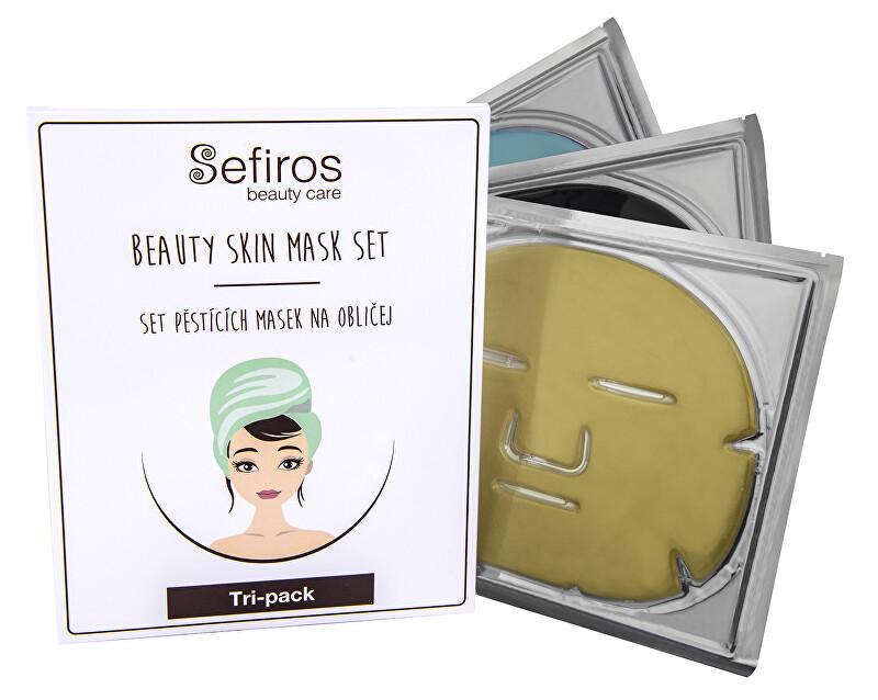 Sefiros Set ošetrujúcich masiek na tvár (Beauty Skin Mask Set) 3 ks