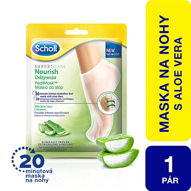 Scholl Vyživujúce maska na nohy s aloe vera Expert Care (Foot Mask) 1 pár