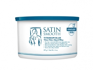 Satin Smooth Depilační vosk Titanium Blue (Thin Film Hard Wax) 400 ml