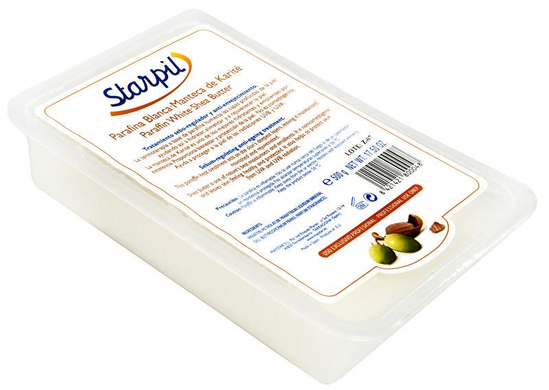Starpil Bílý parafín máslo carité Starpil 500 g