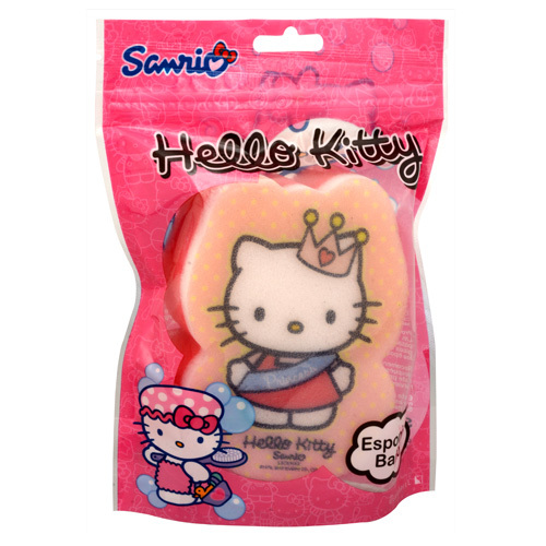 Suavipiel Dětská houba na mytí Hello Kitty (Hello Kitty Bath Sponge)