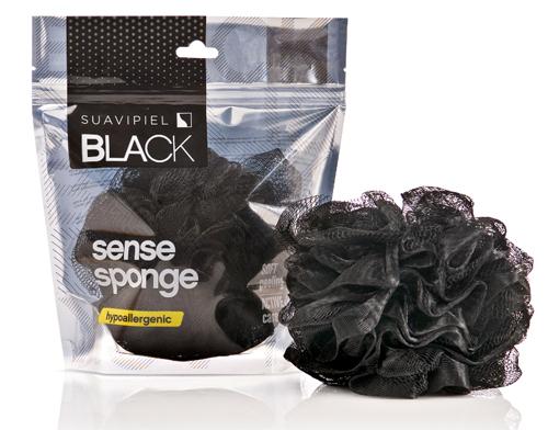 Suavipiel Pánska zmyselná huba na umývanie (Black Sense Sponge)