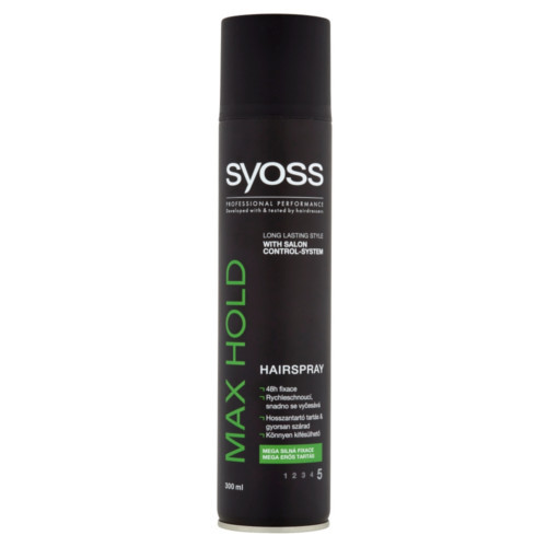 Syoss Lak na vlasy pre mega silnú fixáciu Max Hold 5 ( Hair spray) 300 ml