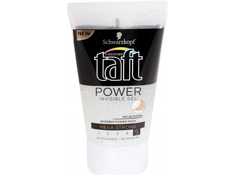 Taft Neviditeľný gél na vlasy s extra silnou fixáciou Power (Invisible Gel) 150 ml