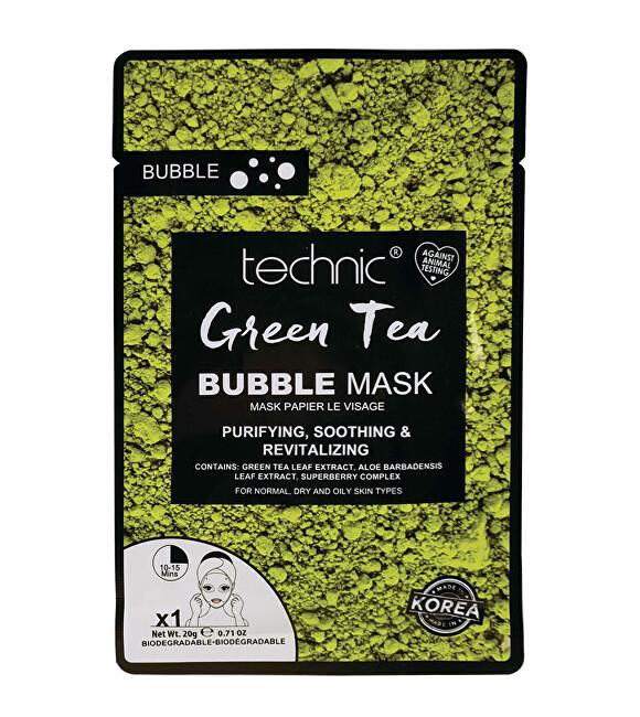 Technic Čisticí pleťová maska Green Tea (Bubble Mask) 20 g