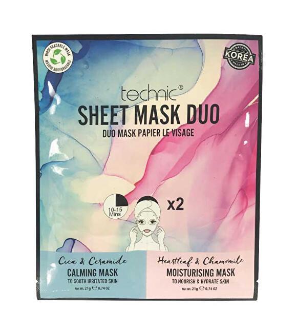Technic Zklidňující a hydratační maska Calming & Moisturising Sheet Mask Duo