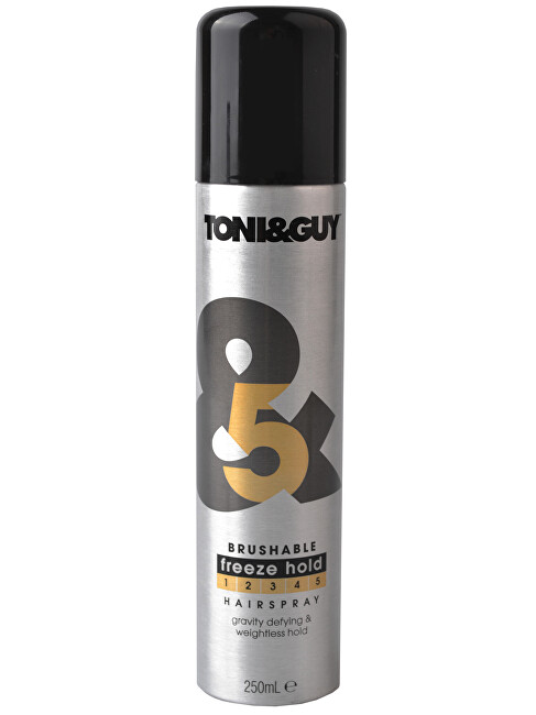 Toni&Guy Extrémne tužiaci lak na vlasy Brushable Freeze Hold Hair spray 250 ml