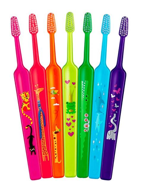 TePe Extra jemný dětský zubní kartáček Kids ZOO (Extra Soft) 1 ks