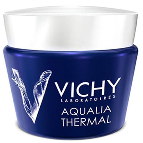 Vichy Intenzívna nočná starostlivosť proti známkam únavy Aqualia Thermal Night Spa (Replenishing Anti-Fatigue Cream-Gel) 75 ml