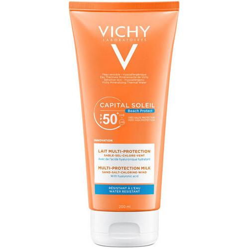 Vichy Multi protekčné hydratačné mlieko SPF 50+ Capital Soleil Beach Protect (Multi-Protection Milk) 200 ml