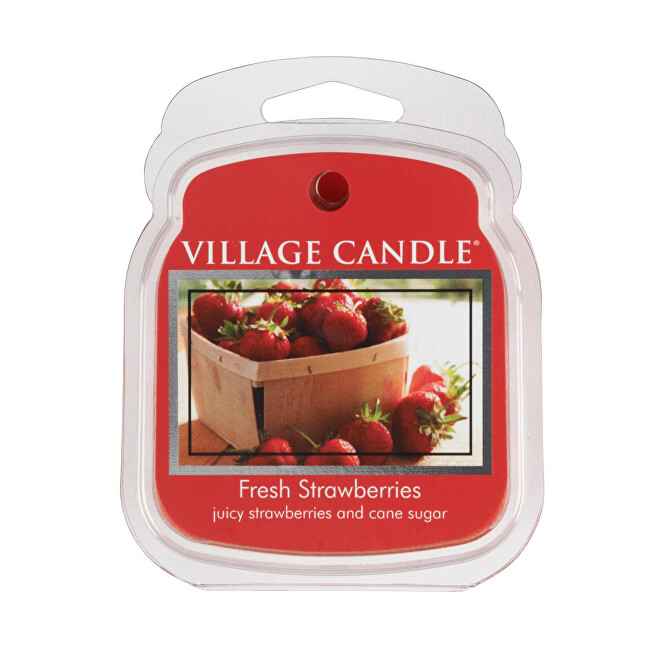 Village Candle Rozpustný vosk do aromalampy Čerstvé jahody (Fresh Strawberries) 62 g