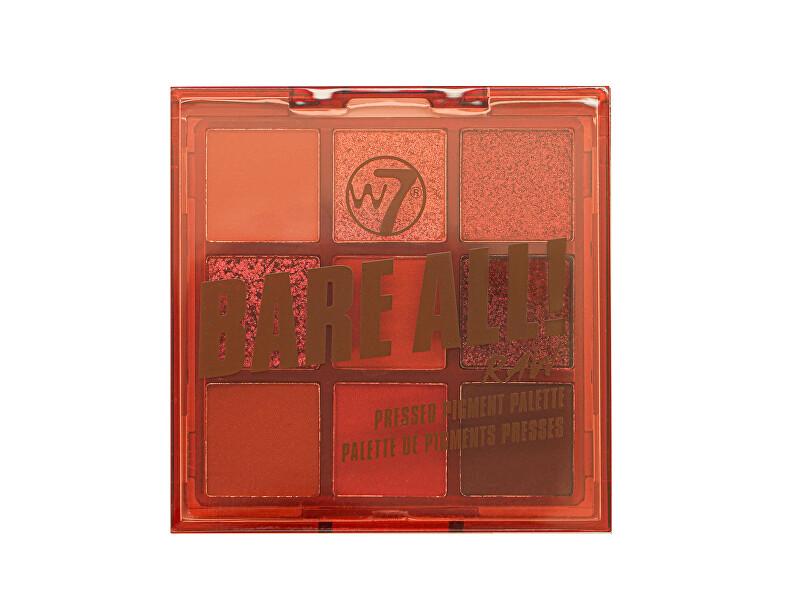 W7 Cosmetics Paletka očných tieňov Bare All! Raw (Pressed Pigment Palette) 8,1 g
