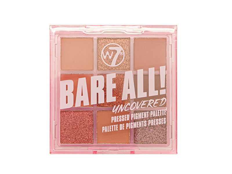 W7 Cosmetics Paletka očných tieňov Bare All! Uncovered (Pressed Pigment Palette) 8,1 g