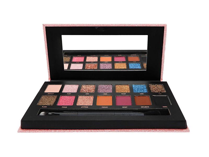 W7 Cosmetics Paletka očných tieňov Showoff (Pressed Pigment Palette) 10,5 g