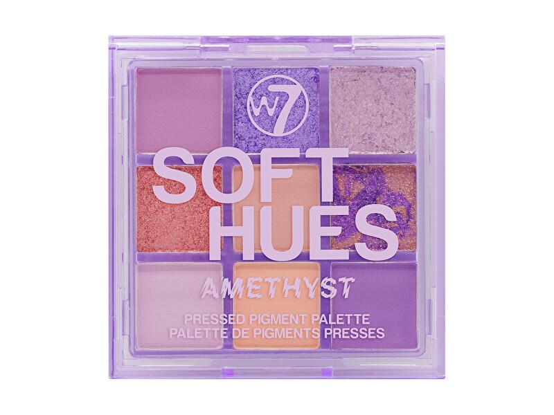W7 Cosmetics Paletka očných tieňov Soft Hues Amethyst (Pressed Pigment Palette) 8,1 g