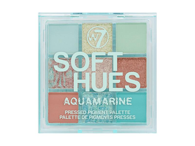 W7 Cosmetics Paletka očných tieňov Soft Hues Aquamarine (Pressed Pigment Palette) 8,1 g